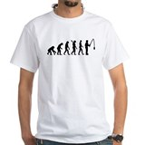 Fishing Mens White T-shirts