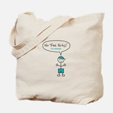 Tree Nut Allergy Tote Bag for Boys