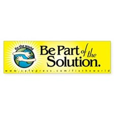 BE PART OF THE SOLUTION - Bumper Car Sticker