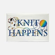 Knit Happens (Cat) Rectangle Magnet