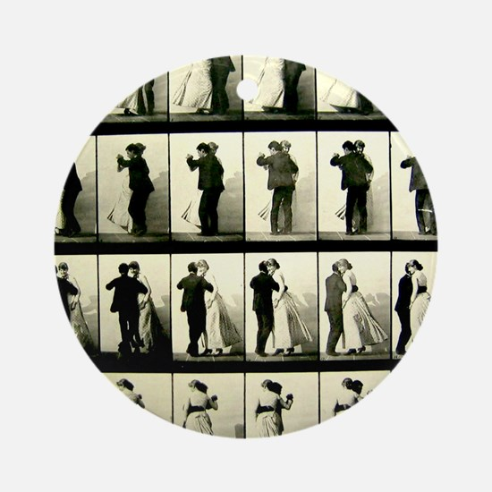 Vintage Dance Sequence Ornament (Round)