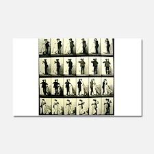 Vintage Dance Sequence Car Magnet 20 x 12