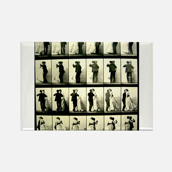 Vintage Dance Sequence Rectangle Magnet