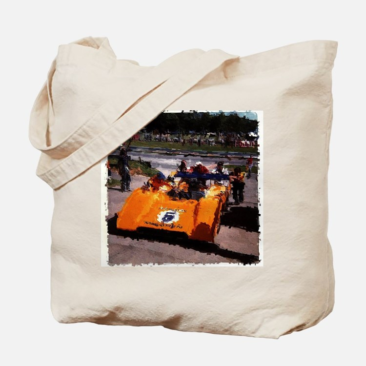 Orange 5: Can-Am MacLaren Tote Bag