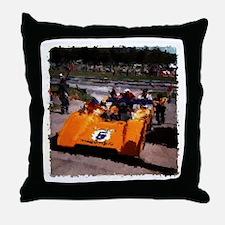 Orange 5: Can-Am MacLaren Throw Pillow