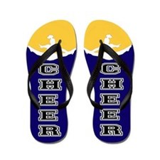 Cheer Yellow and blue Flip Flops