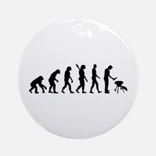 Evolution BBQ barbecue Ornament (Round)