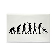 Evolution BBQ barbecue Rectangle Magnet