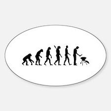 Evolution BBQ barbecue Sticker (Oval)