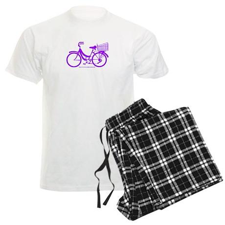 Purple Bike with Basket Men's Light Pajamas