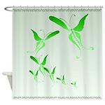 Shower Curtain Green Butterfly Shower Curtain