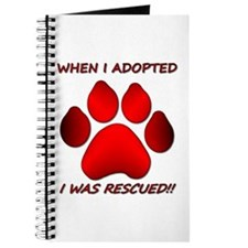 When I Adopted red Journal