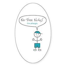 Tree Nut Allergy Sticker for Boys