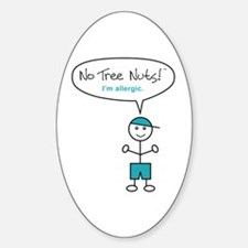 Tree Nut Allergy Sticker for Boys