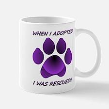 When I Adopted purple Mug