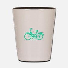 Teal Bicycle Sans basket Shot Glass