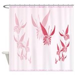 Shower Curtain Pink Butterfly shadowed Shower Curt