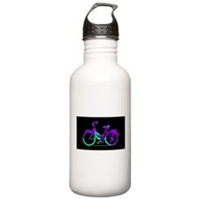 80s Style Bicycling Stivker Sports Water Bottle