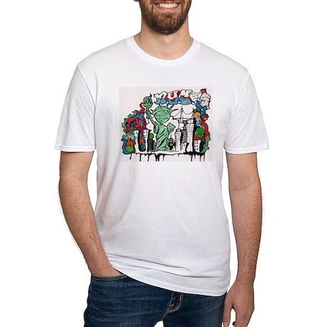graffiti new york city Fitted T-Shirt