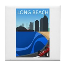 long_beach_travel200.png Tile Coaster