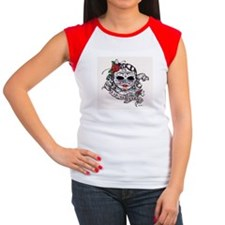 dia de los muertos woman.JPG Women's Cap Sleeve T-
