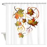 Racing The Atumn Wind Trans.png Shower Curtain