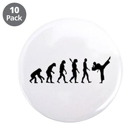 "Evolution Karate kickboxing 3.5"" Button (10 pack)"