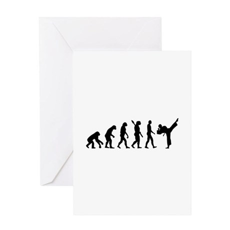 Evolution Karate kickboxing Greeting Card