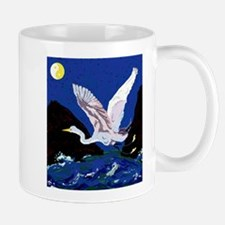 White Crane Spreads Its WIngs Mug