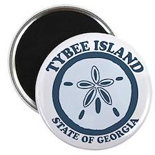Tybee Island GA - Sand Dollar Design. Magnet