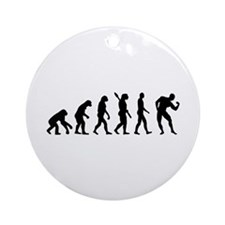 Evolution Bodybuilding Ornament (Round)