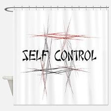 Martial Arts Self Control Shower Curtain