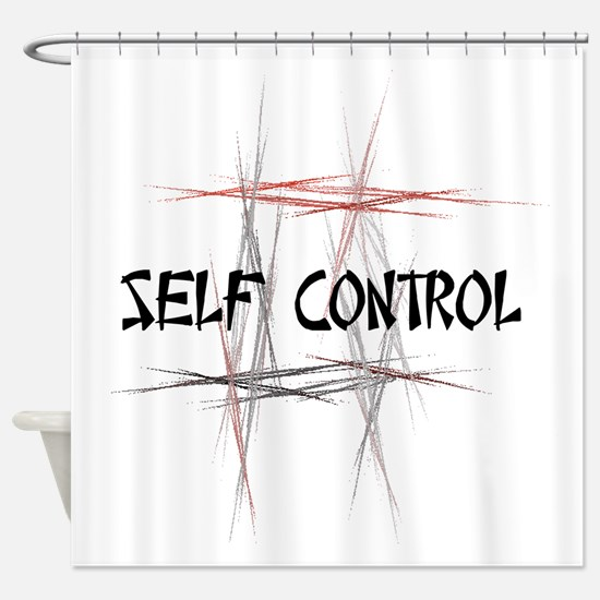 Martial Arts Self Control Shower Curtain