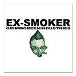 "Ex-Smoker Square Car Magnet 3"" x 3"""