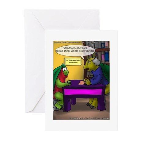 Turtle In Therapy Greeting Cards (Pk of 10)