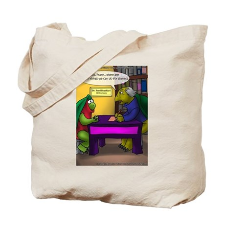 Turtle In Therapy Tote Bag