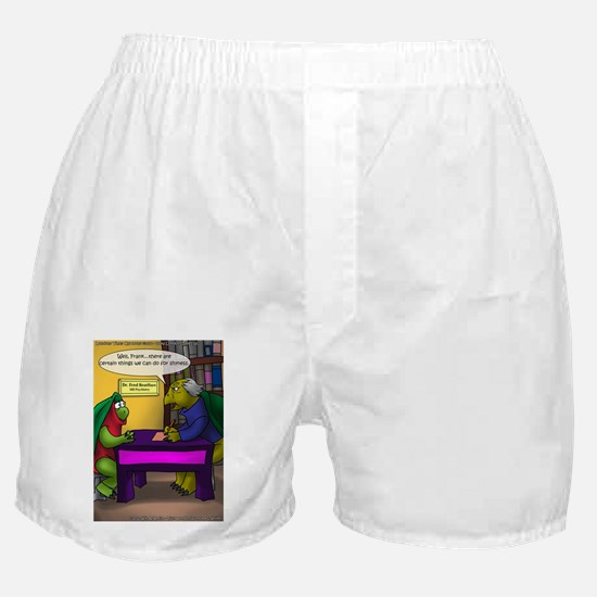 Turtle In Therapy Boxer Shorts
