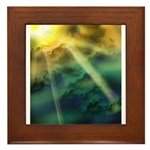 Cloudy Skies Framed Tile