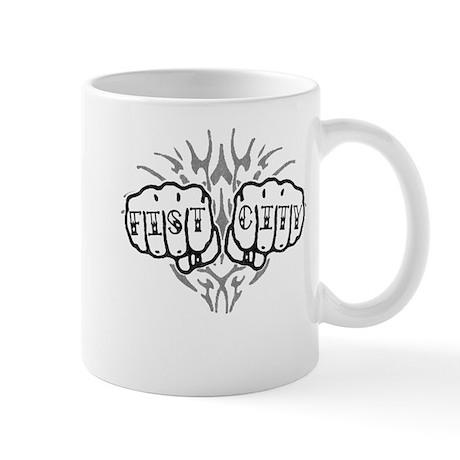 Fist City Knuckle Tattoo Mug
