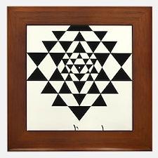vedic rock sri yantra Framed Tile
