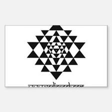 vedic rock sri yantra Sticker (Rectangle)