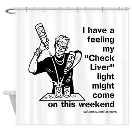 Check Liver - M Shower Curtain
