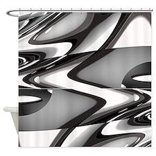 Modern Stylish Waves Shower Curtain