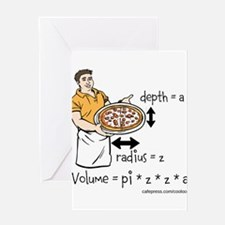 Pizza Volume Greeting Card