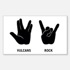 Vulcans Rock Sticker (Rectangle)