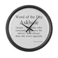 Askhole Large Wall Clock
