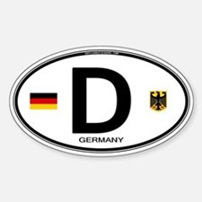 Germany Euro Oval Sticker (Oval)