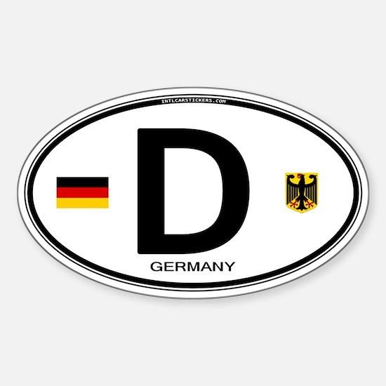 Germany Euro Oval Sticker (Oval)