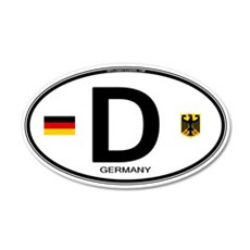 Germany Euro Oval Wall Decal