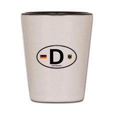Germany Euro Oval Shot Glass